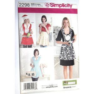 UNCUT Simplicity 2298 sewing pattern APRONS